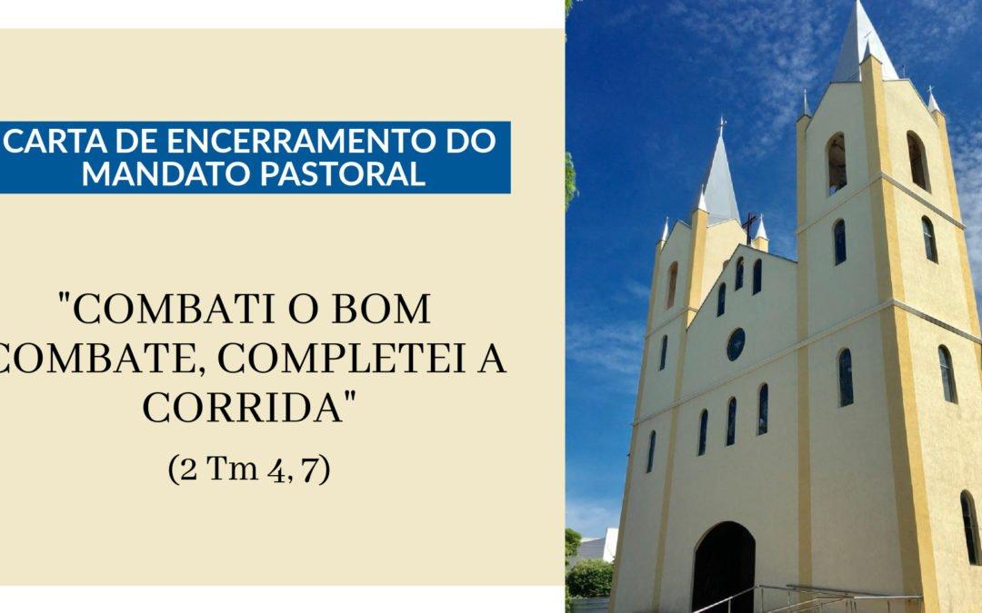 Dom Carmelo envia a Carta de Encerramento do Mandato Pastoral às paróquias
