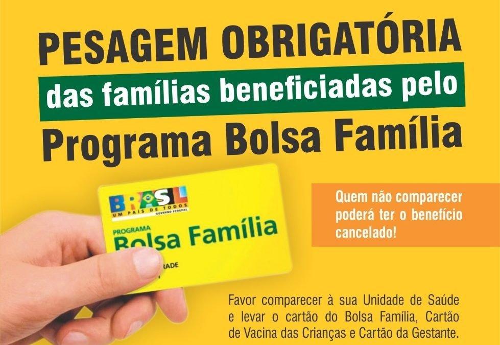 Continua em Caiapônia a pesagem dos beneficiários do Bolsa Família
