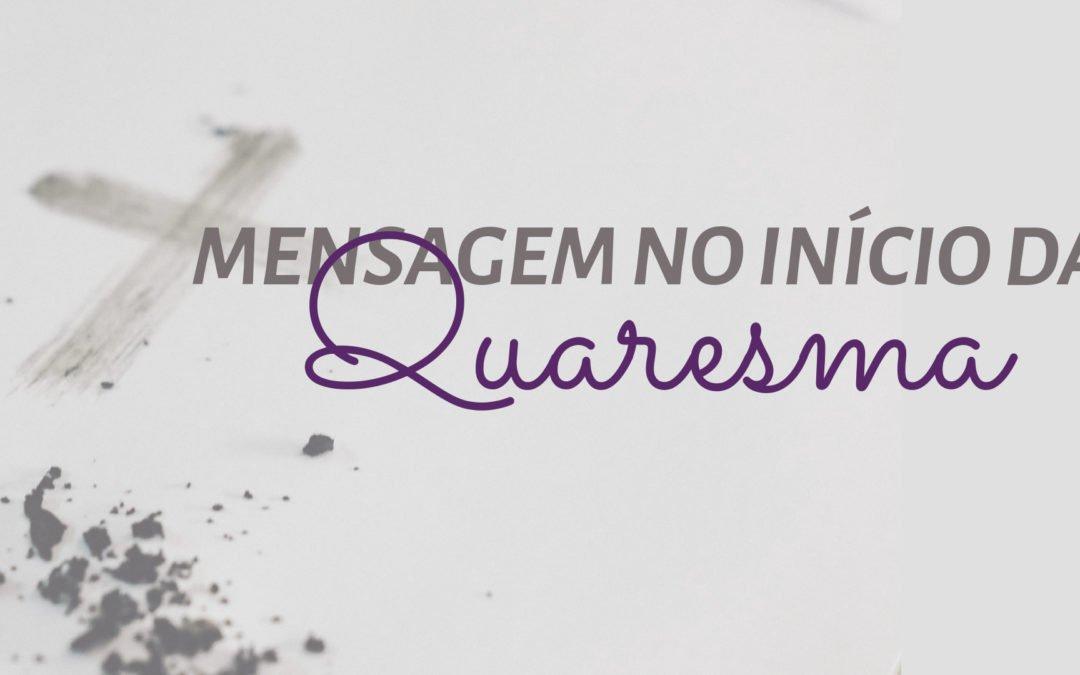 Mensagem de Dom Carmelo para o início da Quaresma