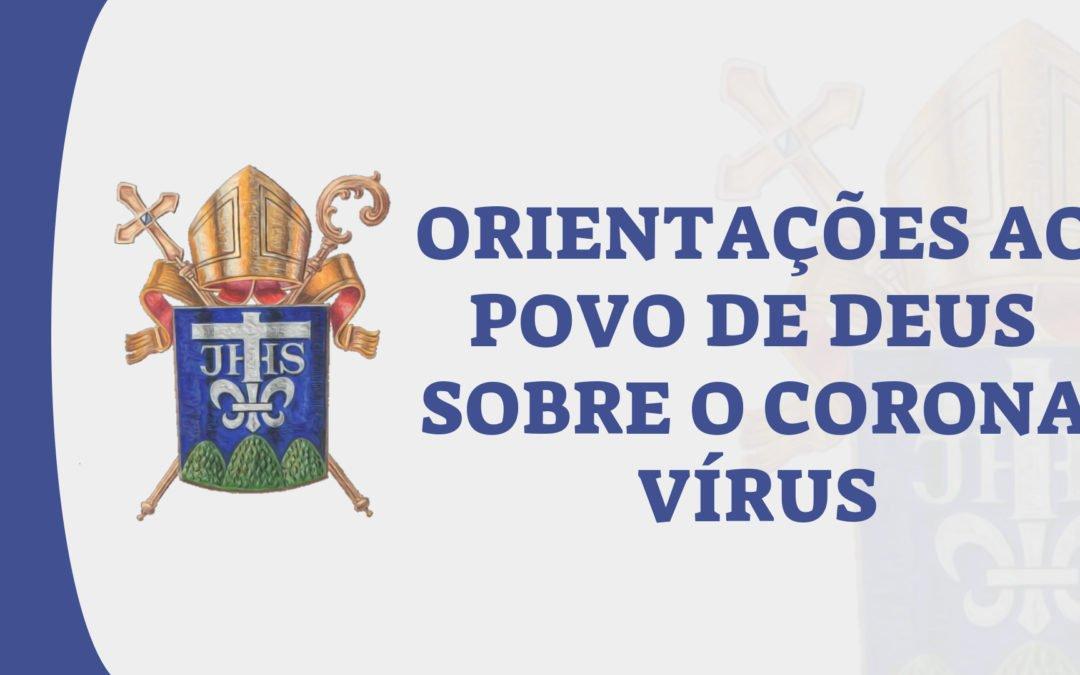 Orientações ao Povo de Deus sobre o Corona vírus