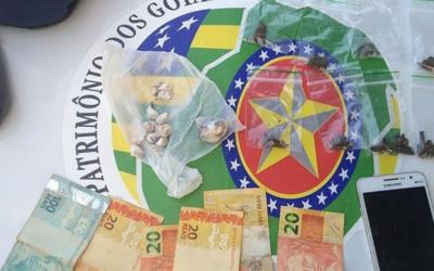 Polícia Militar prende autor de tráfico de drogas
