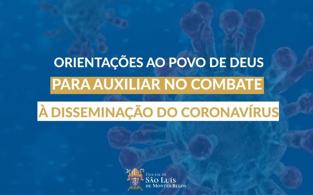 Orientações pastorais sobre o Coronavírus