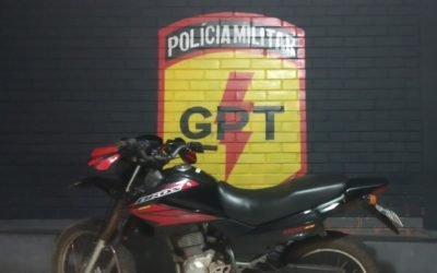 GPT de Caiapônia realiza prisão em flagrante de autores de furto de motocicleta