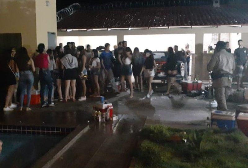 Coronavírus: Cerca de 150 pessoas são flagradas em uma festa em São Luís de Montes Belos