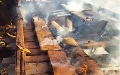 Incêndio em ponte entre povoado de boa vista e assentamento padre Ilgo afeta 120 famílias