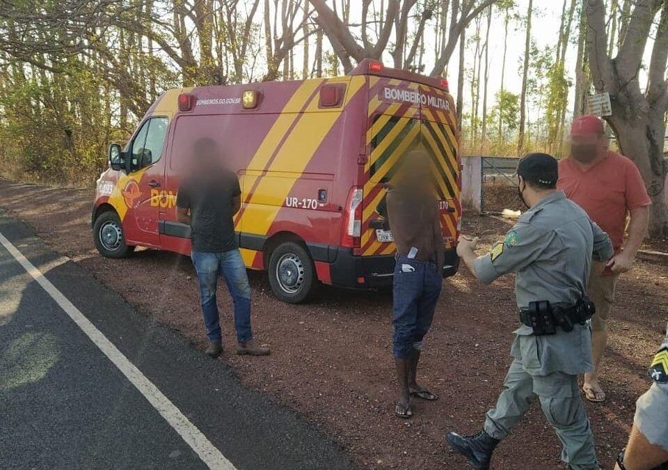 Homem é preso ao ser flagrado provocando incêndio às margens da GO-221