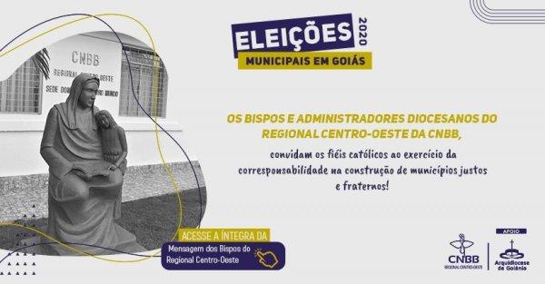 Em mensagem, Bispos do regional centro-oeste da CNBB oferece orientações sobre as eleições municipais