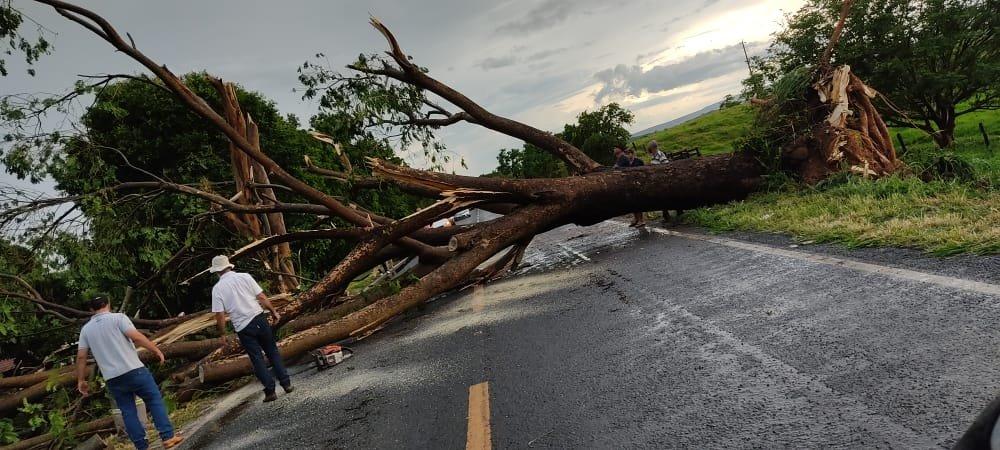 Chuva forte e rápida causa transtornos em Iporá e região