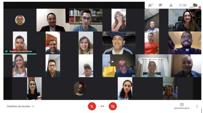 Dom Lindomar realiza primeira reunião on-line com colaboradores da RDR