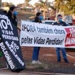 Democracia em Iporá, manifestação contra governo Bolsonaro no Lago Por do Sol